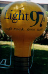 light bulb inflatable - yellow light bulb shape cold-air advertising balloon