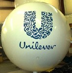 Helium Advertising Balloon - helium balloon with Unilever artwork