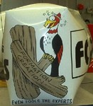 Custom shape advertising helium balloon - woodpecker art